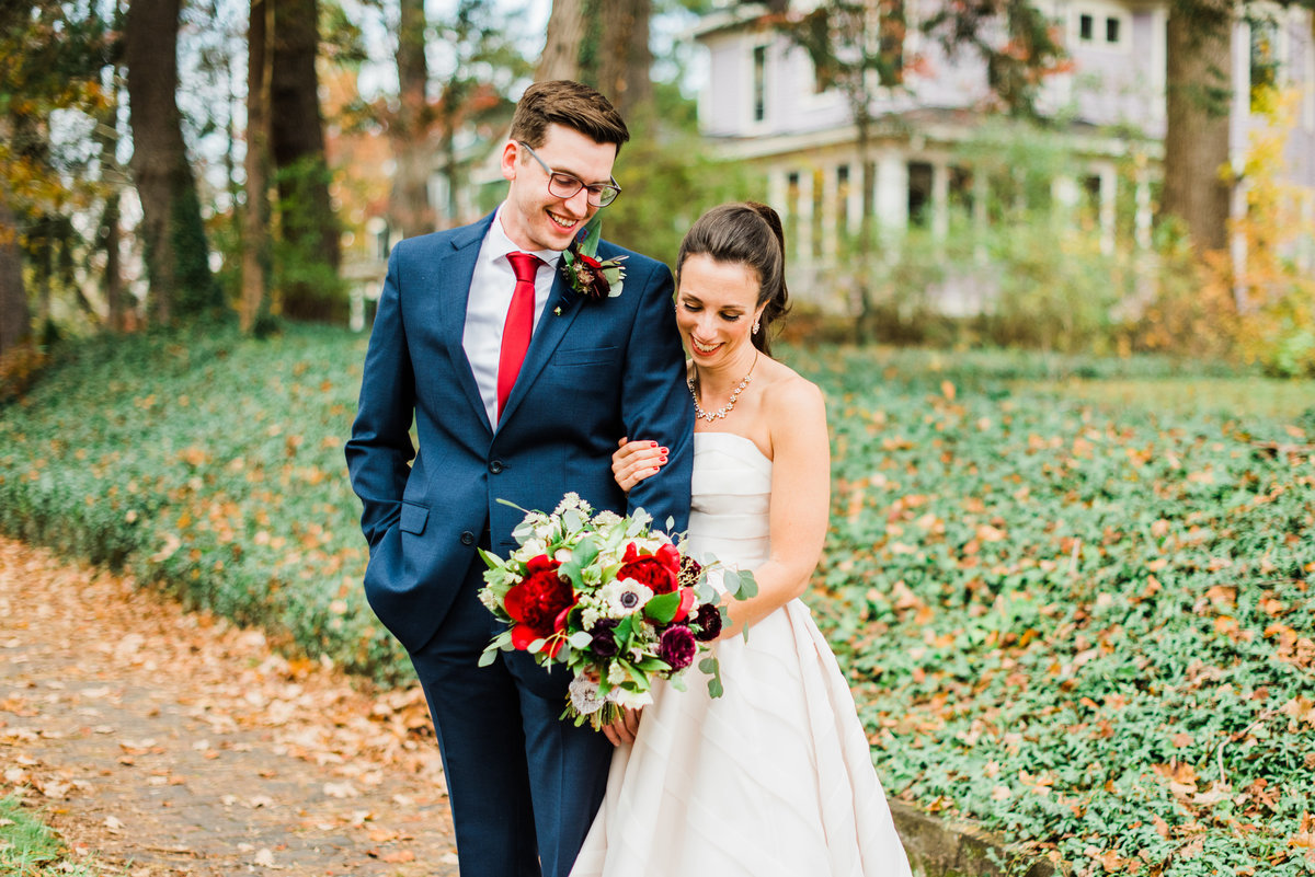 raleigh nc fall wedding portrait photo