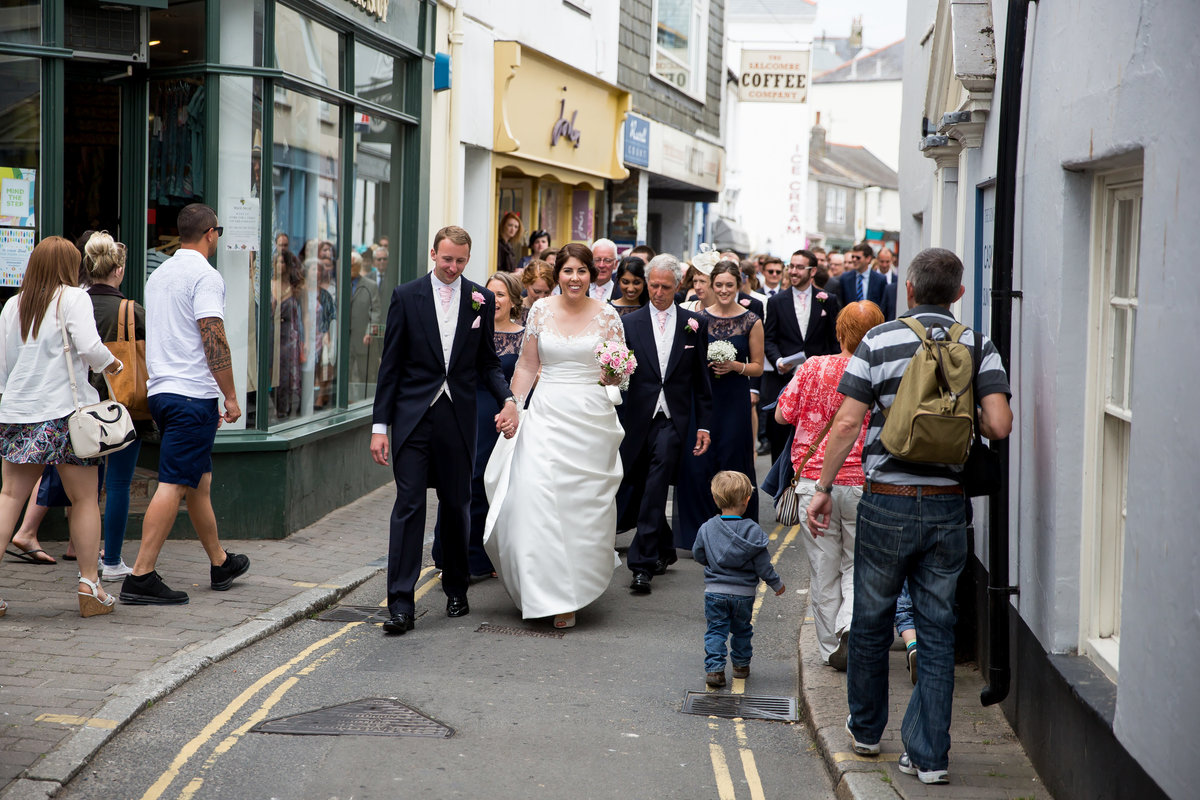bride at salcombe harbour hotel devon