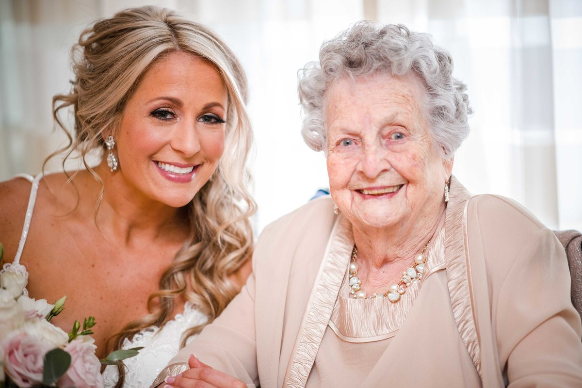 05 Bride with grandmother on wedding day