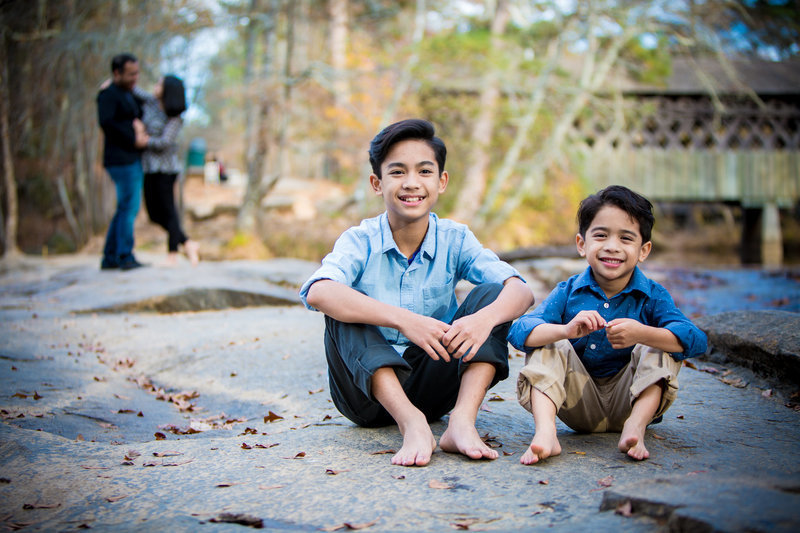 family portrait creative shot kids