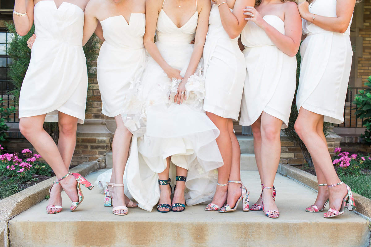 Basilica of the Sacred Heart Bridesmaid Feet Photo