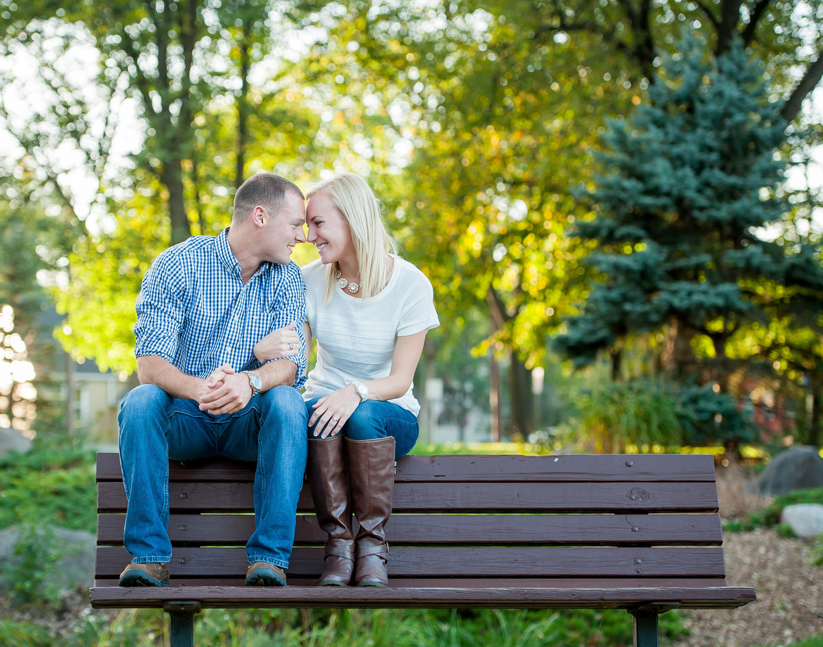 Engagement photos in grand Forks Kris Kandel
