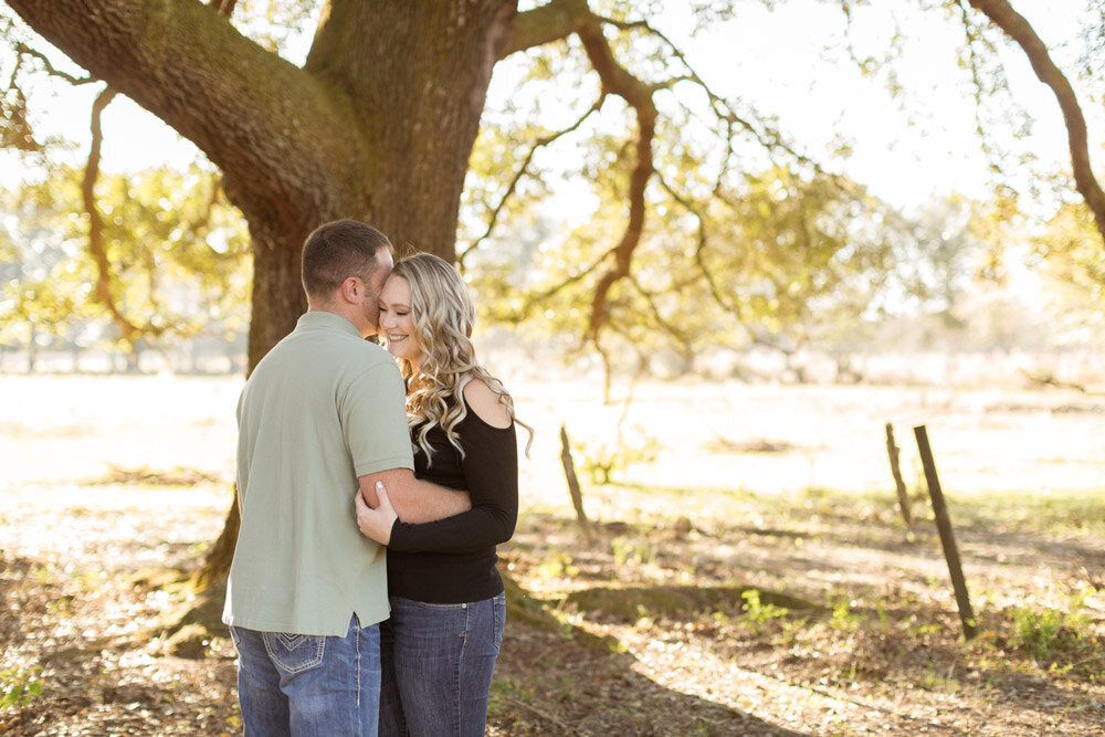 Outdoor engagement session photo of Jenna and Brandon Morris.