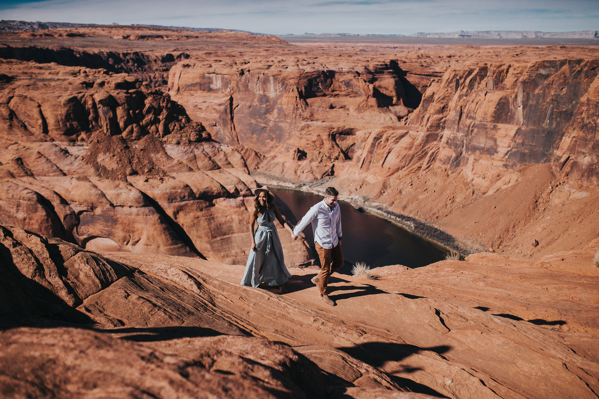 Couple session at Horseshoe Bend in Page Arizona