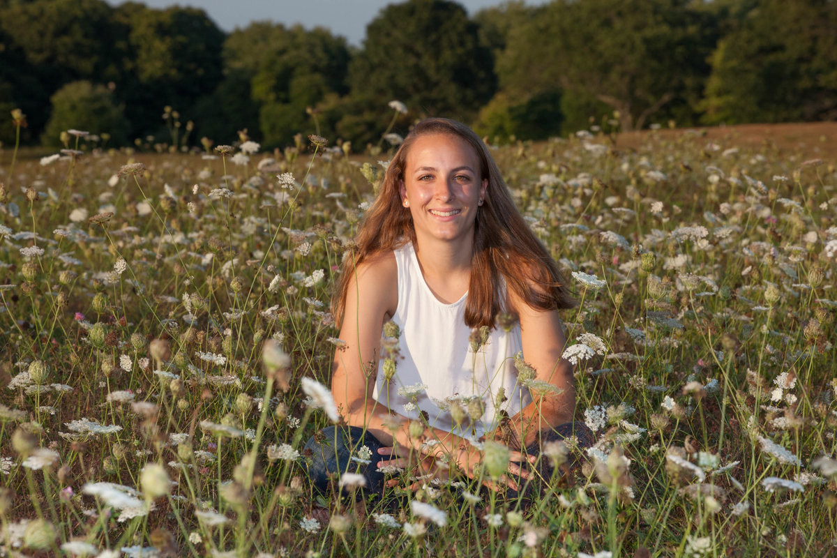 senior portrait in Old Lyme