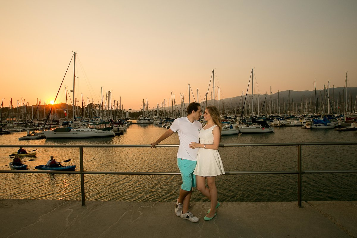 Santa Barbara Pier Engagement Photos