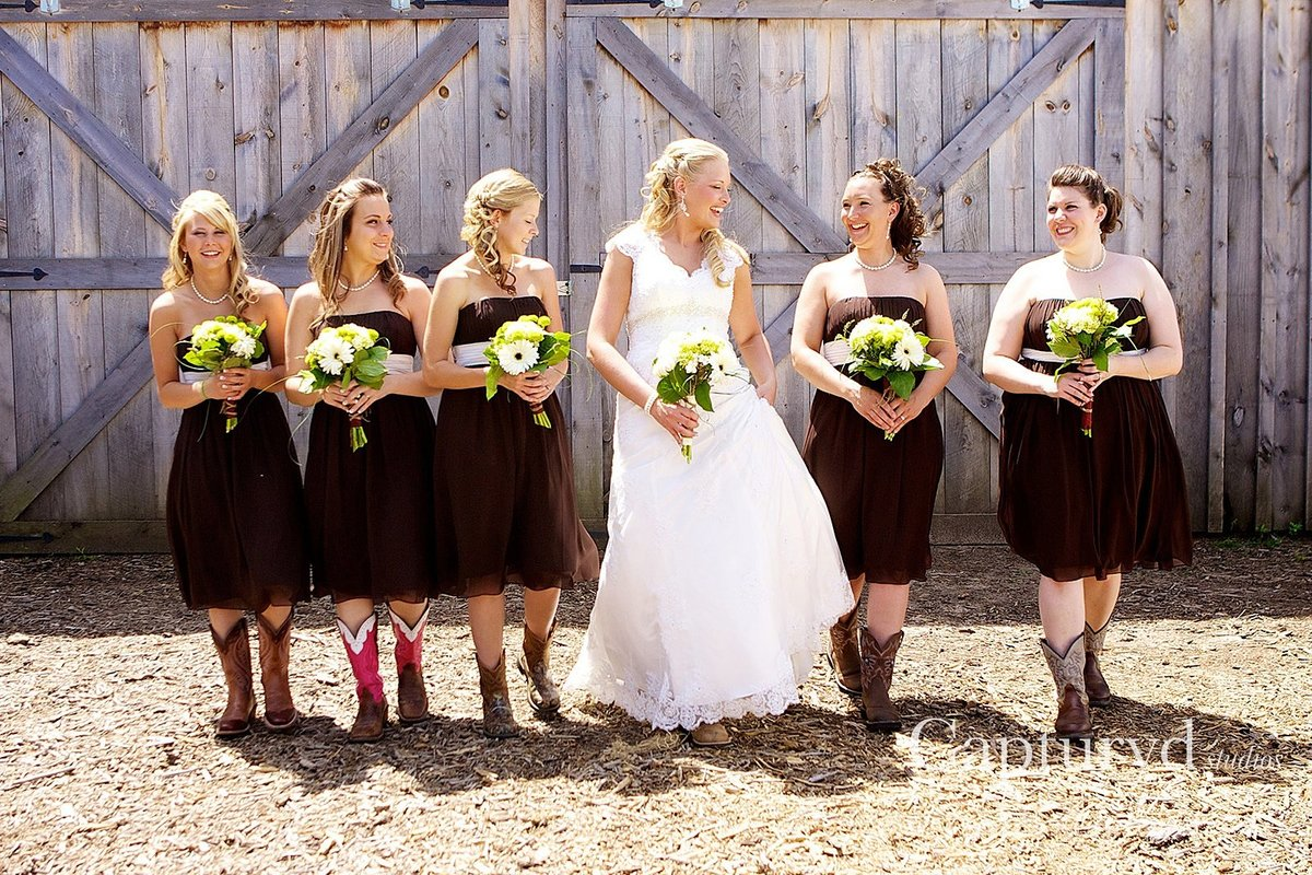 Bridesmaids barn wedding
