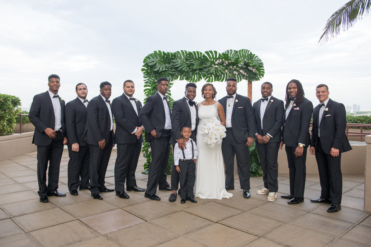 NFL Miami Dolphins Brandon Radcliff ShaKyra Radcliff Briza on the Bay Wedding Andrea Arostegui Photography-152