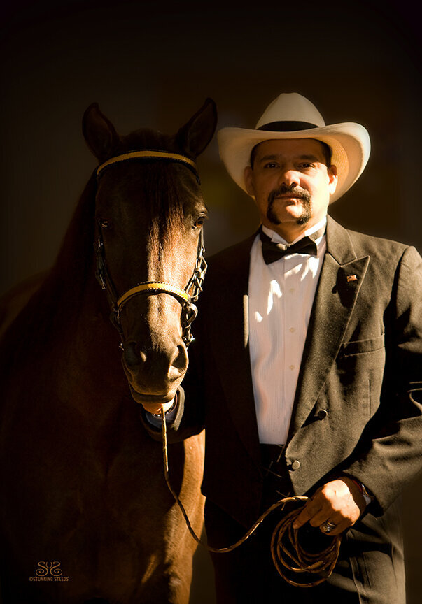 paso fino horse trainer portrait photo by Stunning Steeds