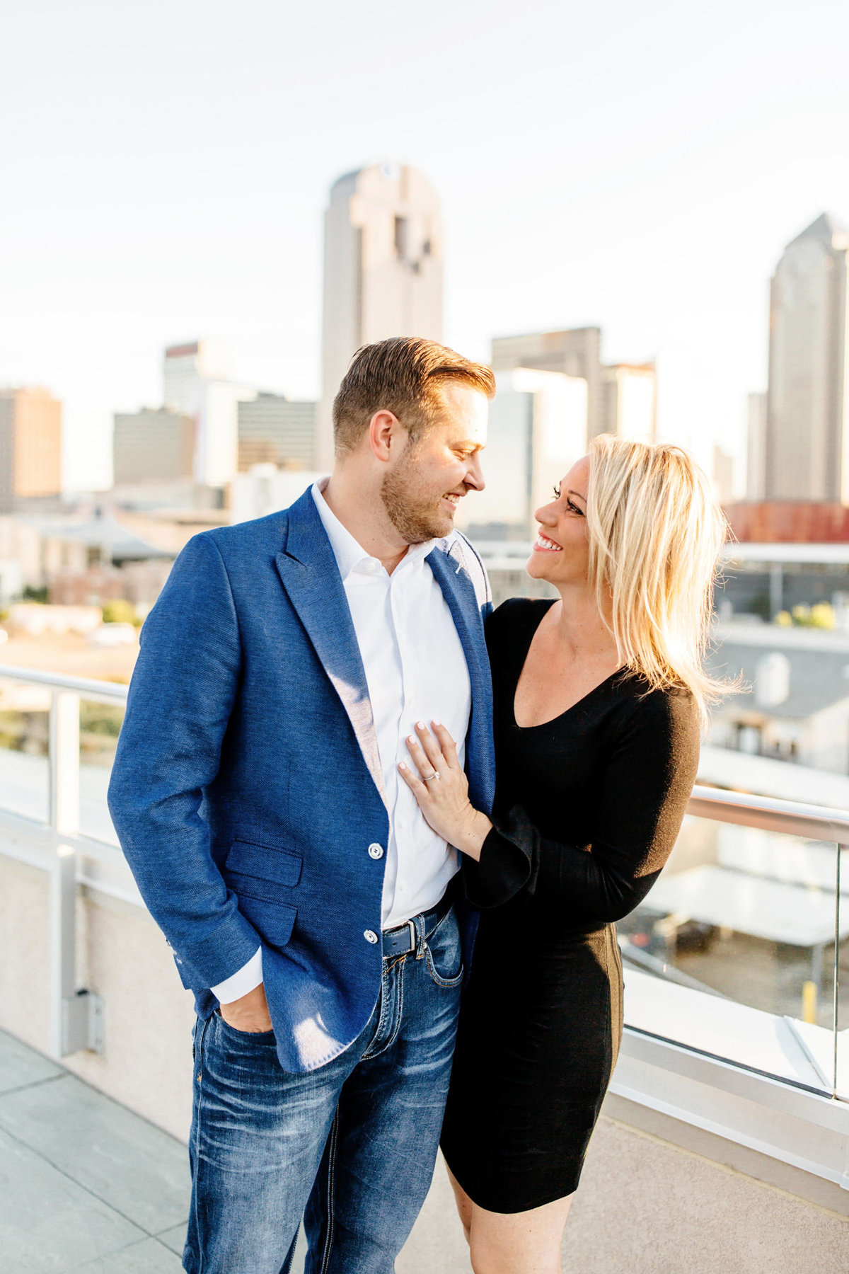 Eric & Megan - Downtown Dallas Rooftop Proposal & Engagement Session-63