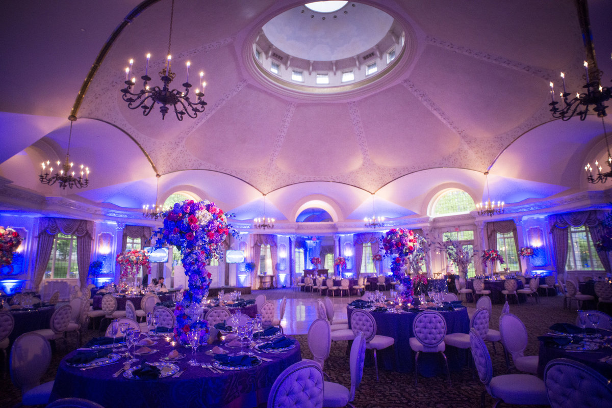 Pleasantdale Chateau Luxury NJ Wedding Purple Blue Pink Silver 15