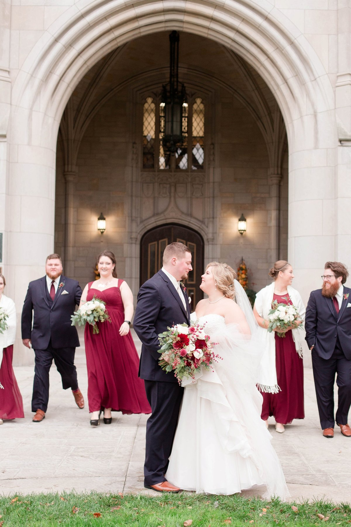 Burgundy and Rose Gold Fall Holland Garden Wedding with by Toledo and Detroit Based Wedding Photographers Kent & Stephanie Photography_1110