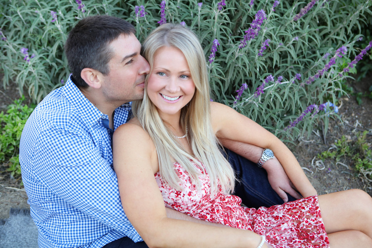 Love lavender outdoor portrait session young couple california photographer bay area