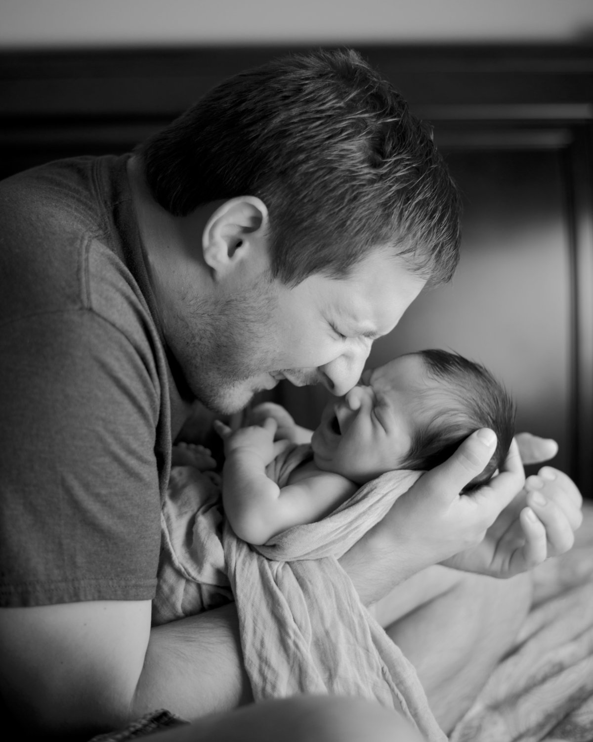Black and White Lifestyle Newborn Photography by Erin Tetterton Photography, Alexandria VA