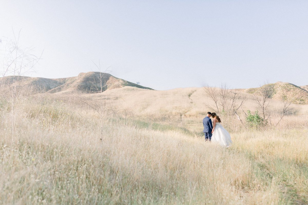 Navy Blue Field Romantic Los Angeles Wedding Photography