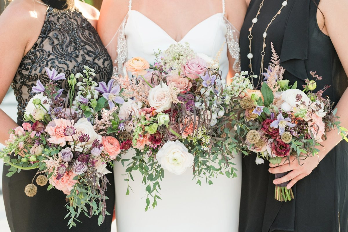 Flora Fetish Bridesmaids Bouquets for Celebrino Event Center Austin
