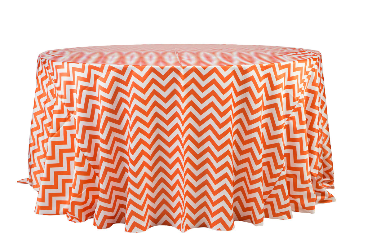 132'' Rd Orange Matte Satin Tablecloth