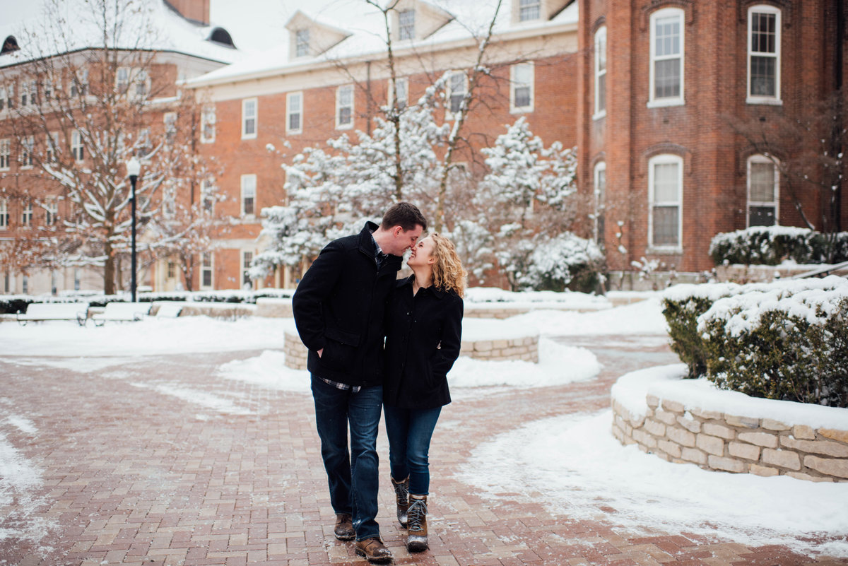 University of Dayton Engagement Photographer