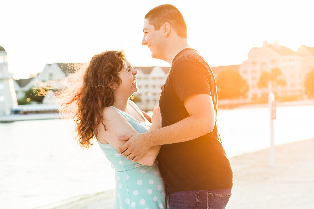 Disney Springs Engagement Photo by Sidney Baker-Green