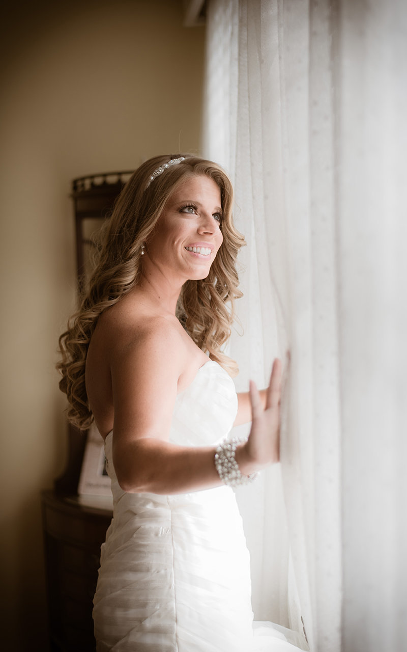Bridal Portrait - Flair Bridal, Boston - Haley Paige Wedding Dress - Burton's Florist - Lands End, New York - Imagine Studios Photography - Wedding Photographer