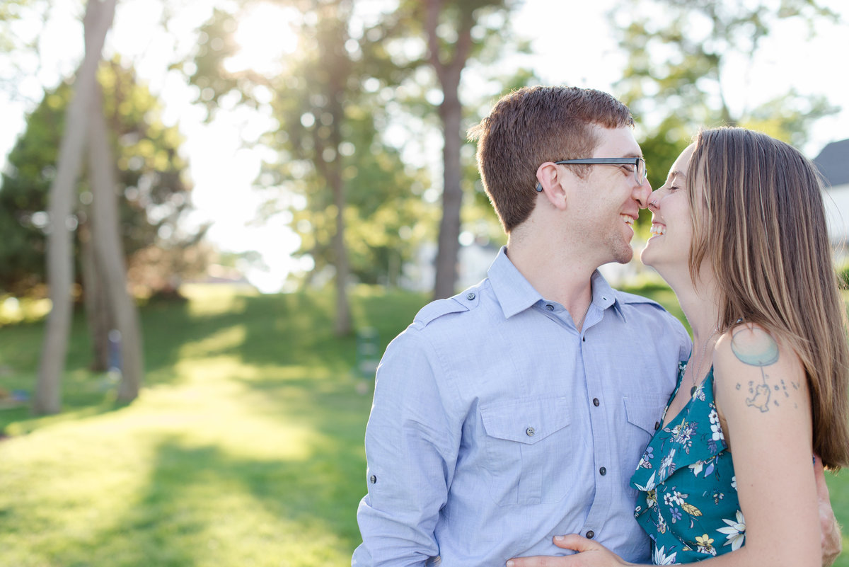 york harbor summer engagement photos