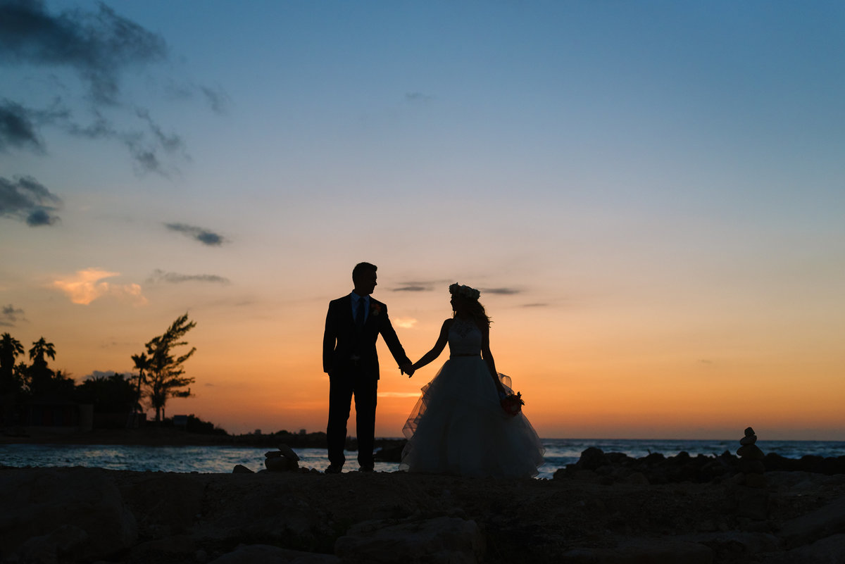 montego bay jamaica Hyatt Zilara wedding at sunset