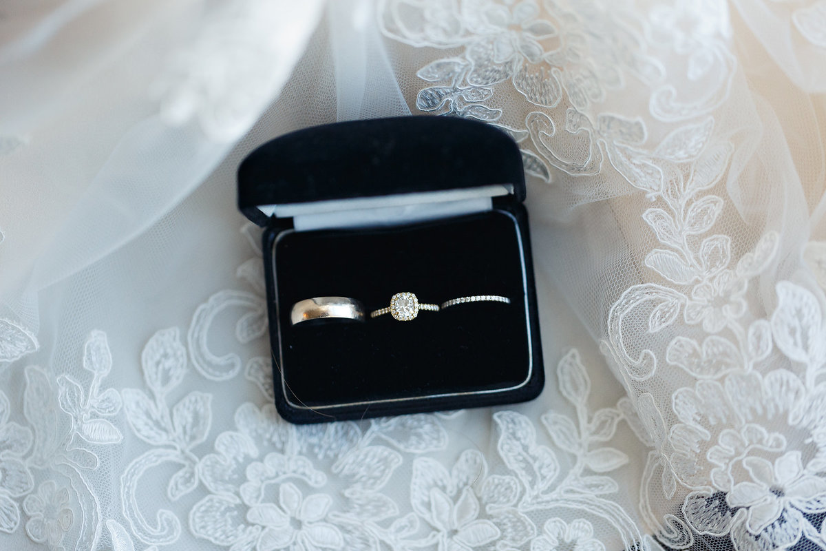 Wedding rings in box