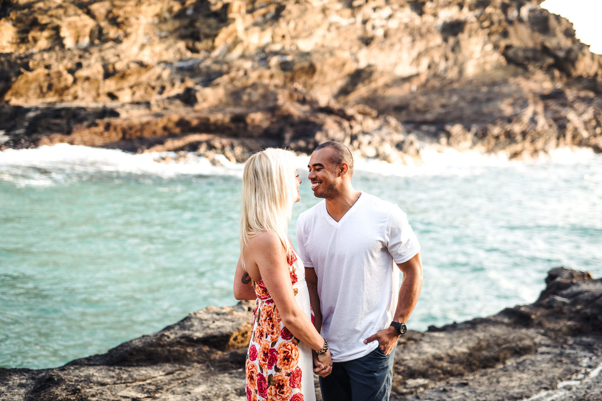 Eternity Beach Honolulu Hawaii Destination Engagement Session - 7