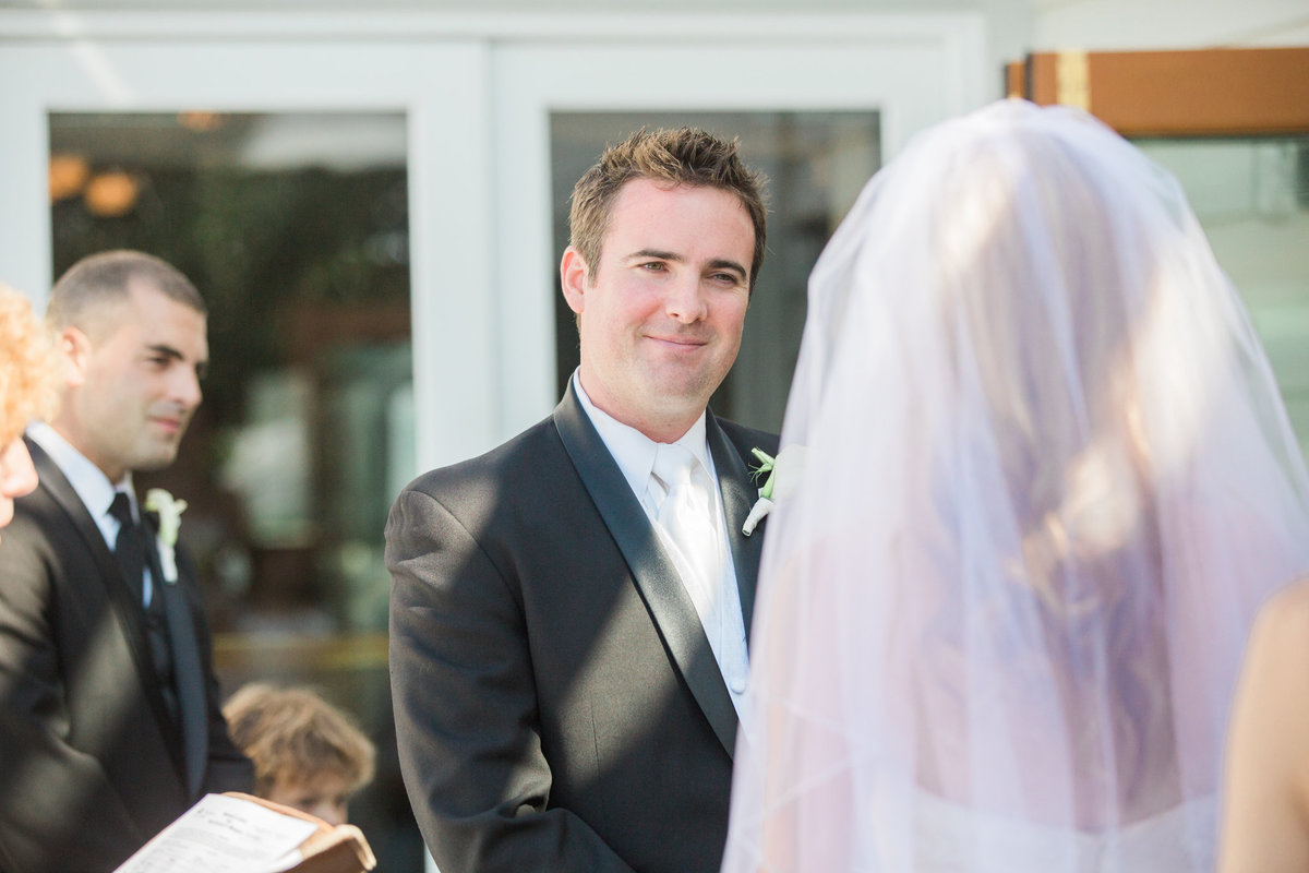 Ceremony at  Vancouver Yacht Club wedding