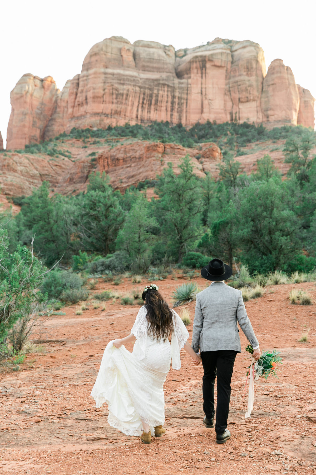 Karlie Colleen Photography - Sedona Arizona Elopement Wedding - Sara & Alfredo-196