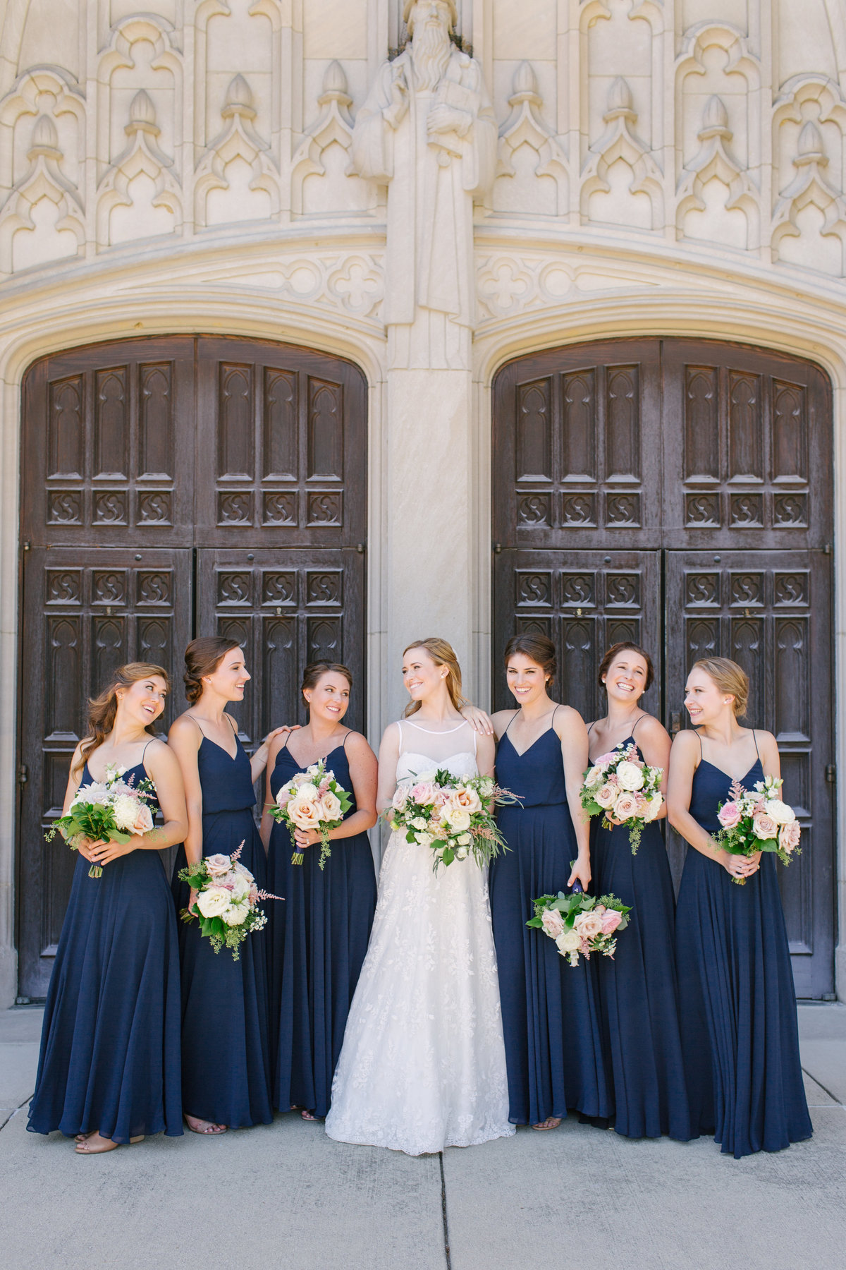 Scottish Rite Cathedral Wedding Lace Wedding Bridesmaid Photo