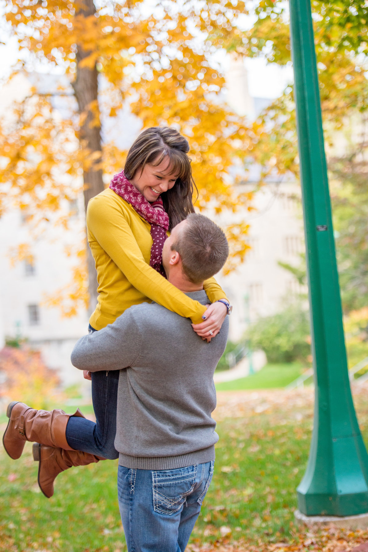 IU Campus engagement photography