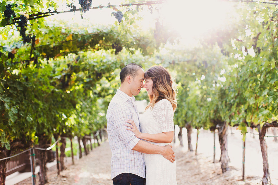 Temeucla engagement session in a vineyard