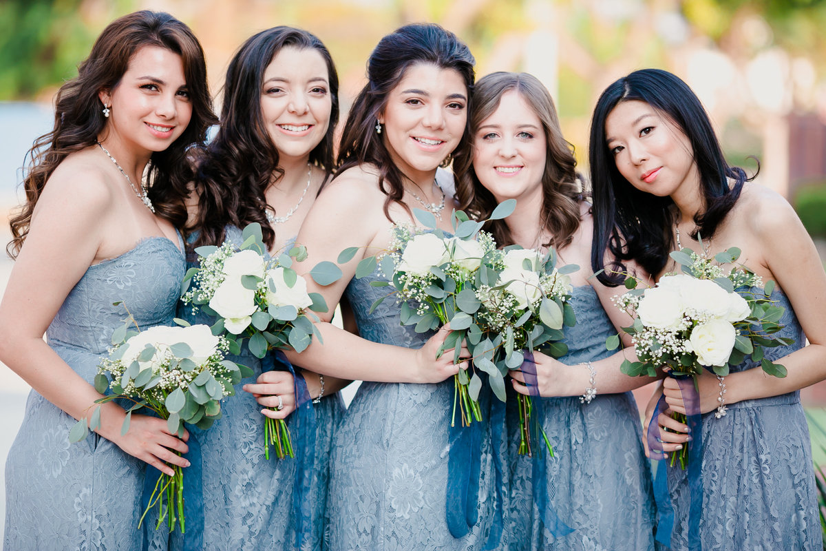Bridesmaids-in-Bluedress-LA