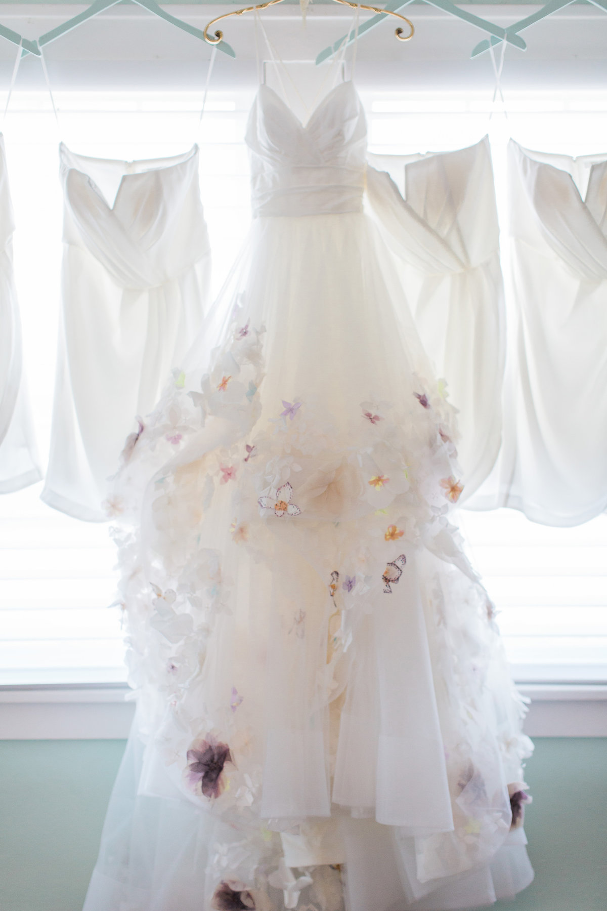 Basilica of the Sacred Heart Wedding Dress Photo