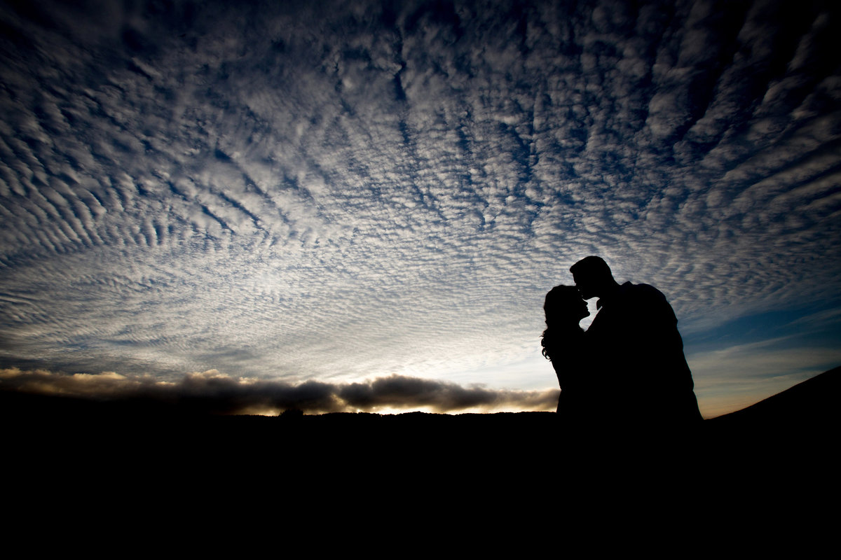 Engaged Silhouette, Sunset, Engaged, Engagement Photography, Jennifer Baciocco Photography