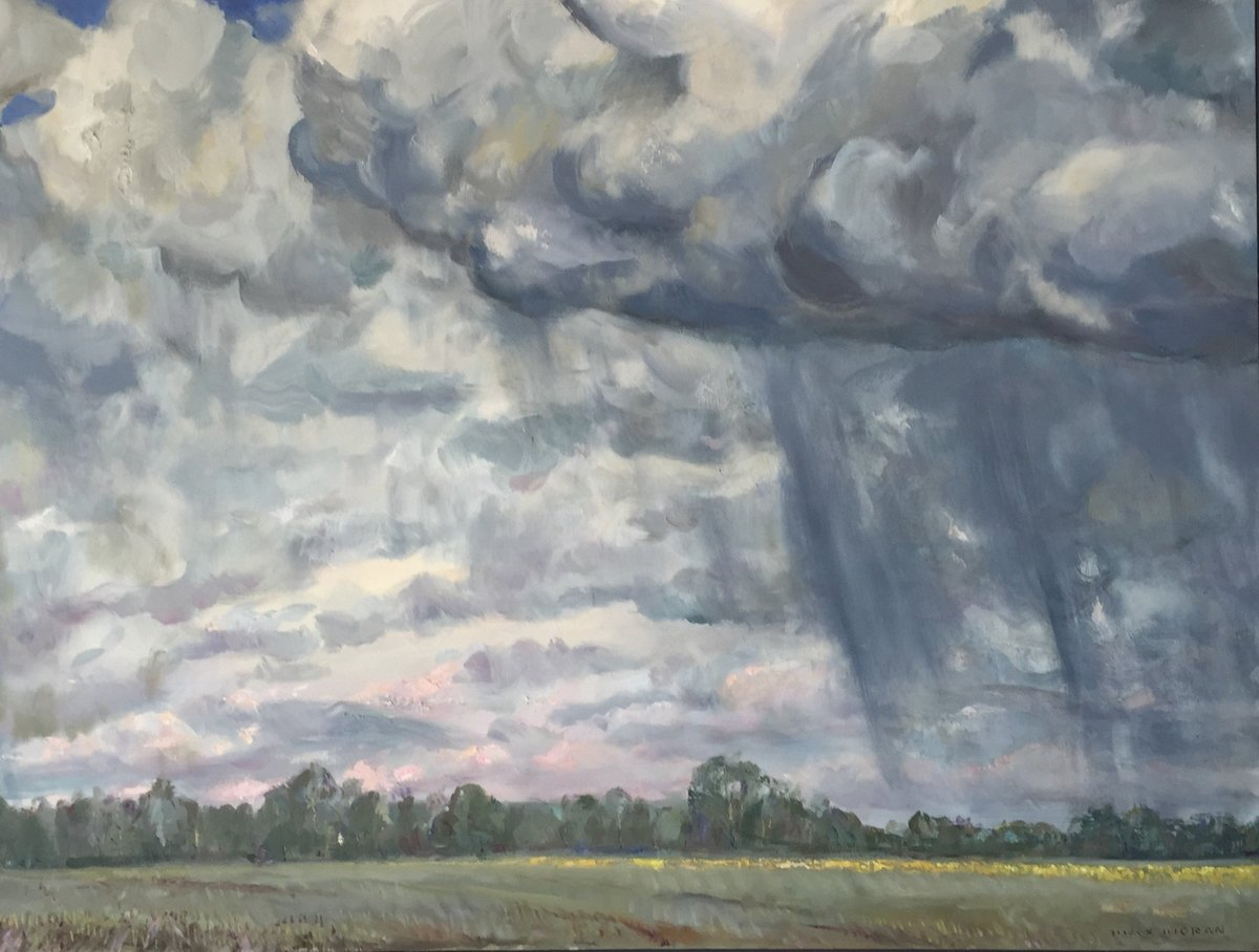 Rain Clouds 44x58 ooc 7,000