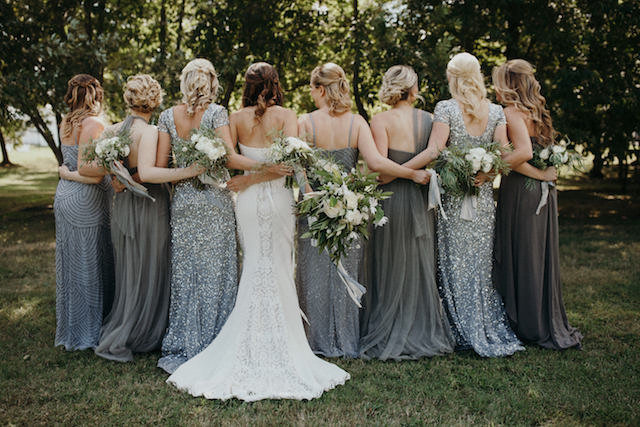 gray-mismatched-bridesmaids-dresses