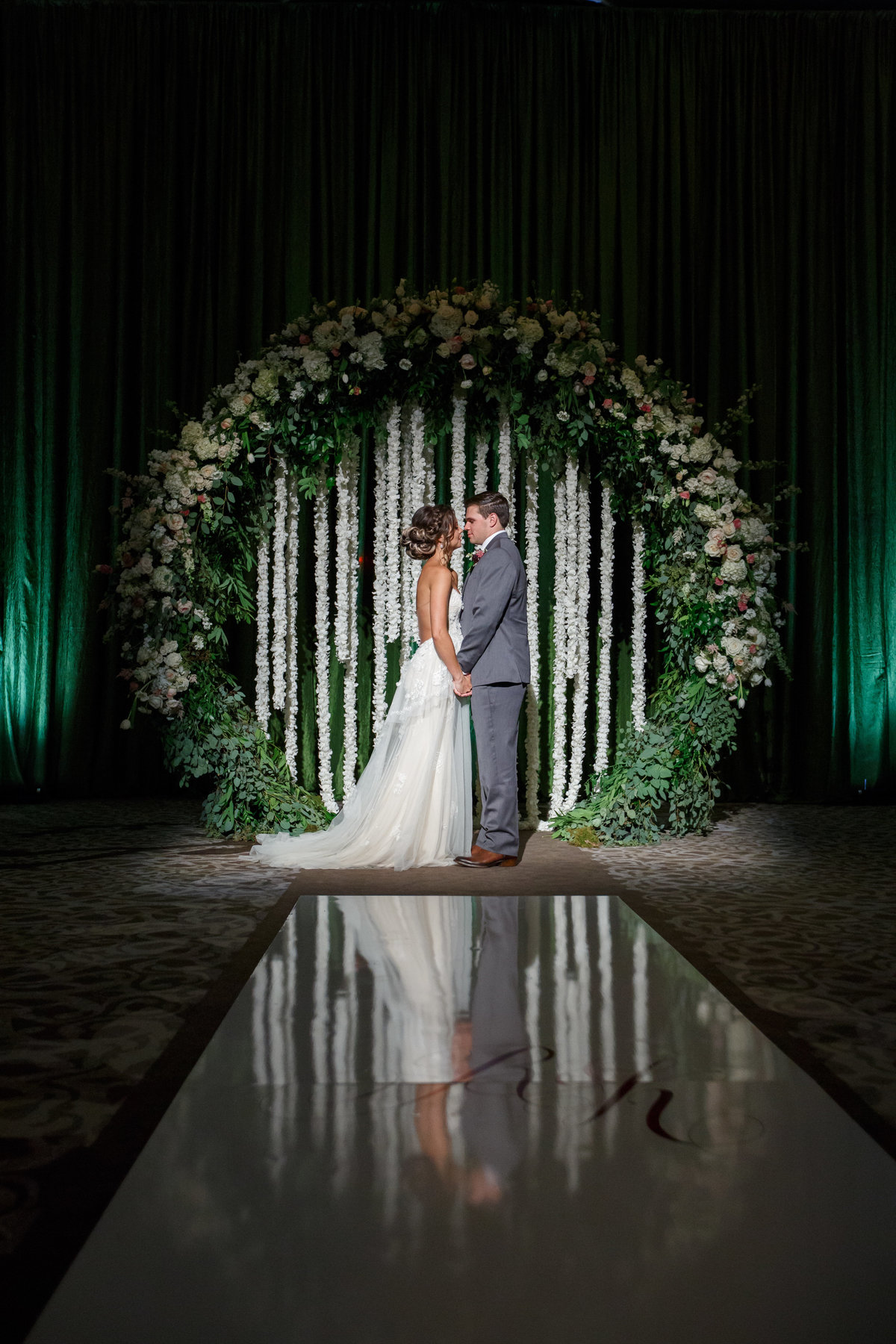Greenery Orchid Ceremony Arch