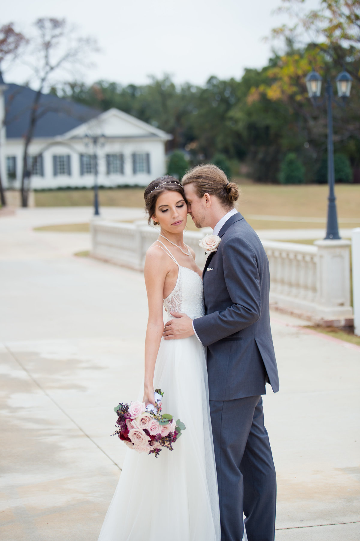Bride and Groom at The Milestone Aubrey by Brittany Barclay Photography