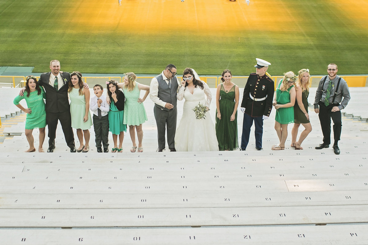 Fun wedding at Lambeau Field by Casi Lea Photography-green bay wedding photographer-door county wedding photographer-milwaukee wedding photographer-appleton wedding photographer-wisconsin weddings