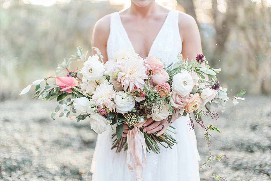 Lowcountry Wedding Bouquet with Dahlias