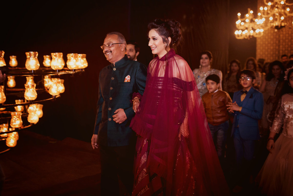 Vini at her sangeet enters with her father in law