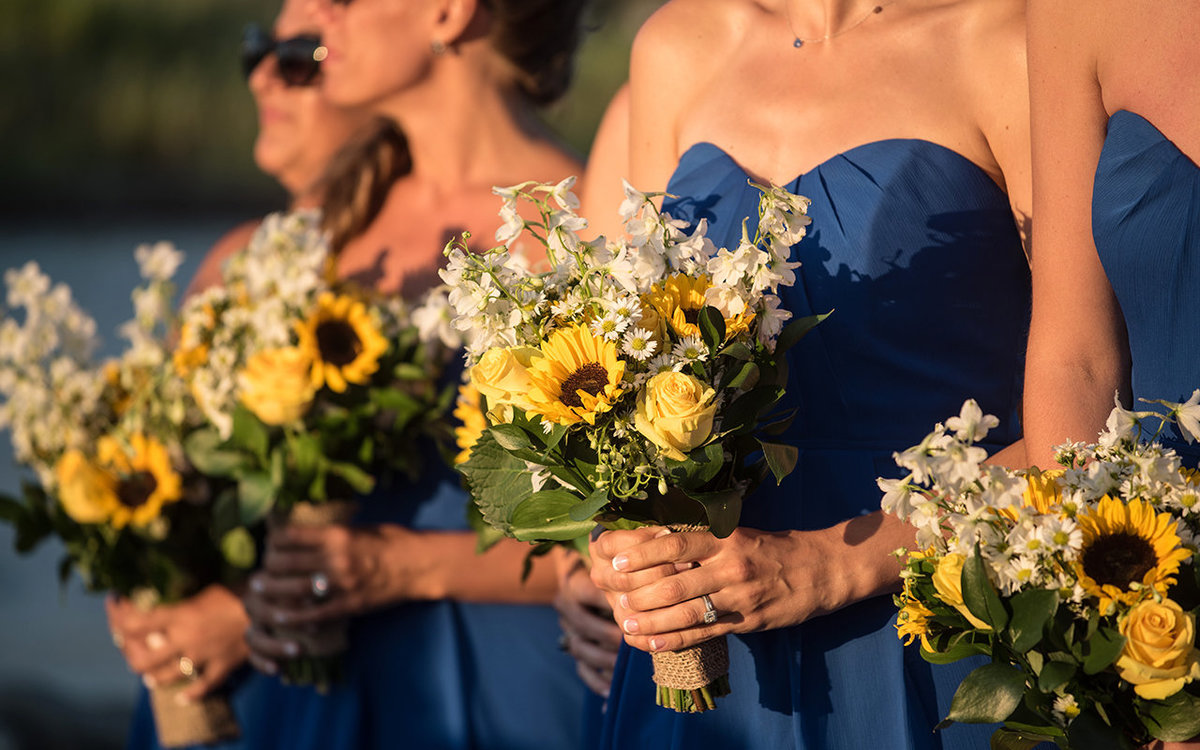 Bridesmaid Florals - Flair Bridal, Boston - Haley Paige Wedding Dress - Burton's Florist - Lands End, New York - Imagine Studios Photography - Wedding Photographer