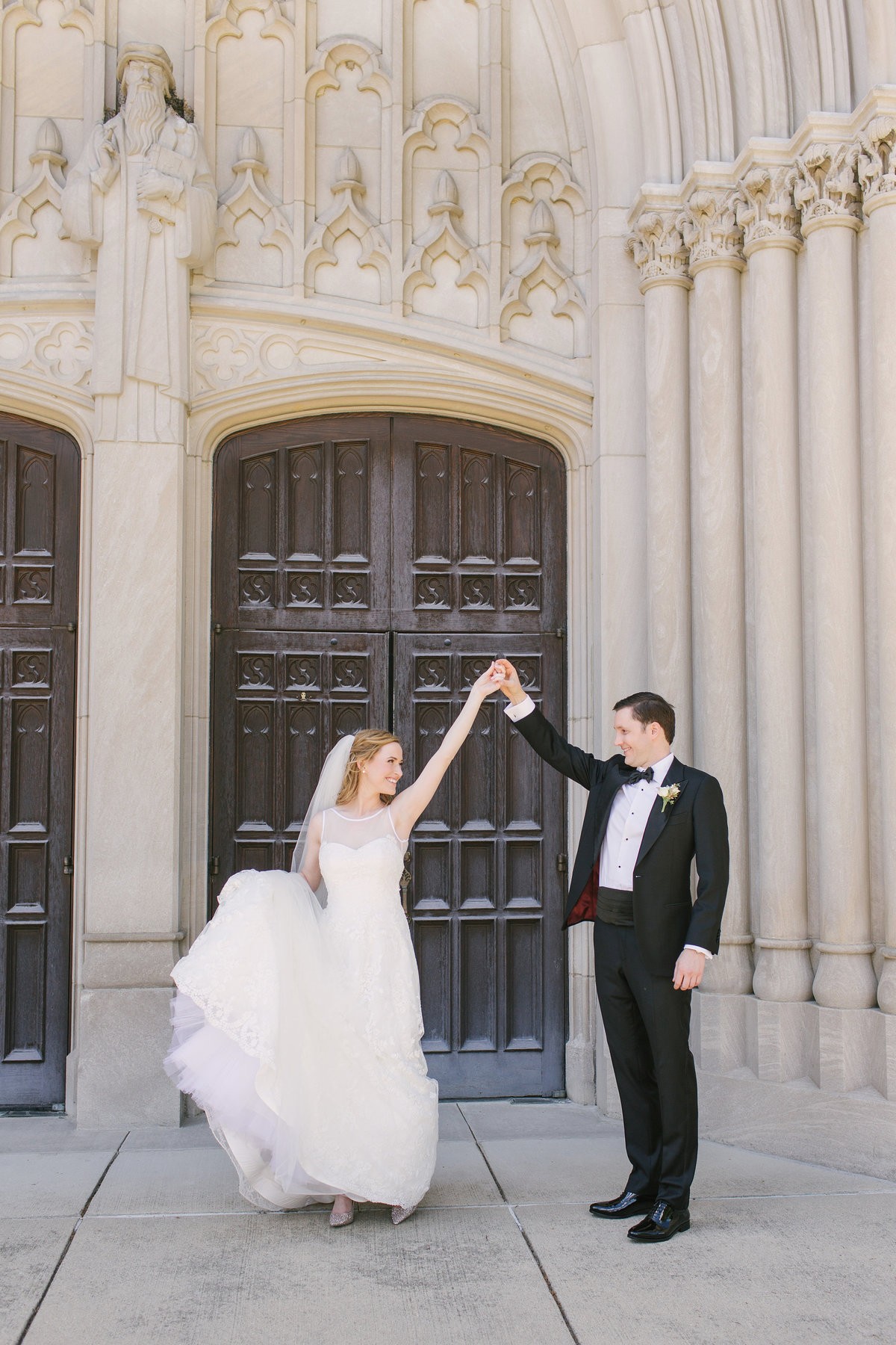 Scottish Rite Cathedral Wedding Lace Wedding Dancing Photo