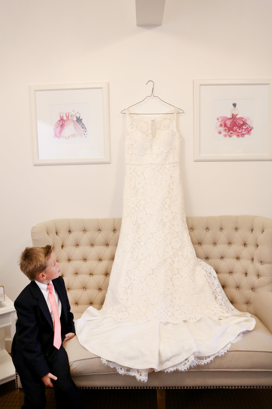 Image of wedding dress by deneffe studios, indoor portraits