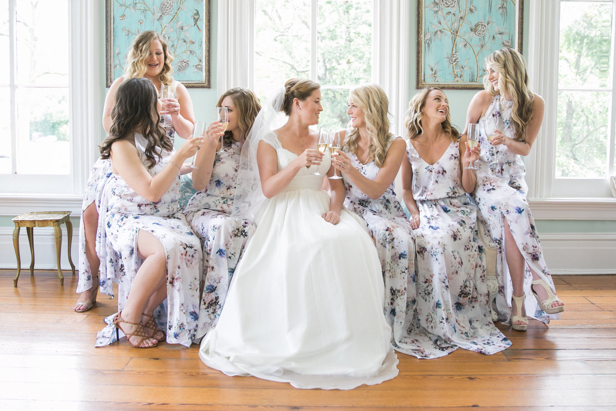 bridesmaids at The Merrimon-Wynne House