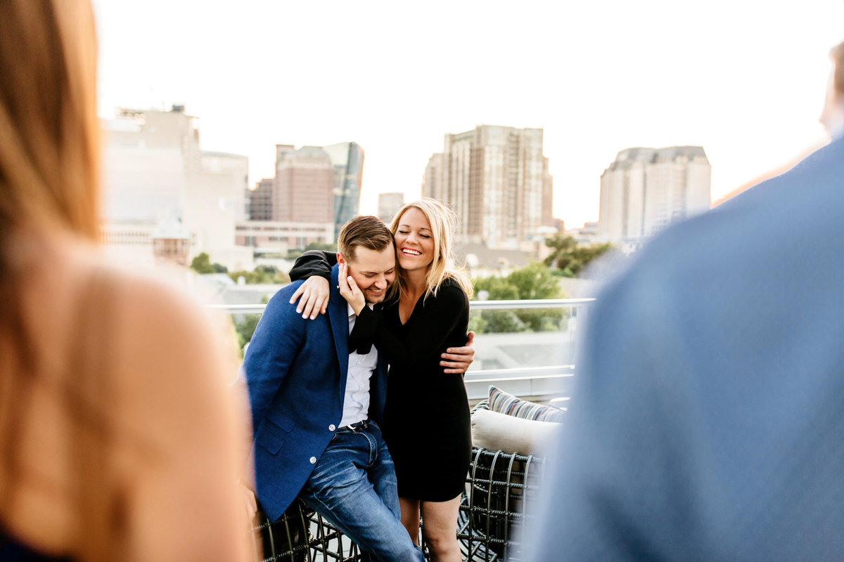 Eric & Megan - Downtown Dallas Rooftop Proposal & Engagement Session-210