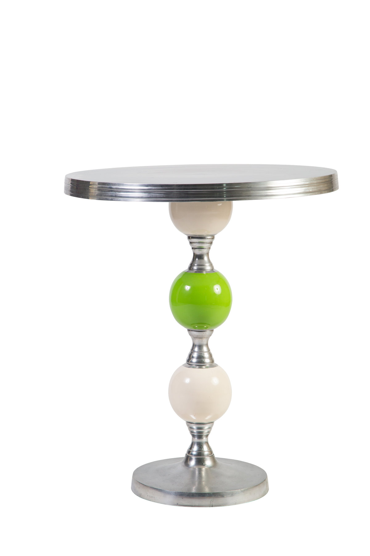White-Lime Green Joya Cocktail Table