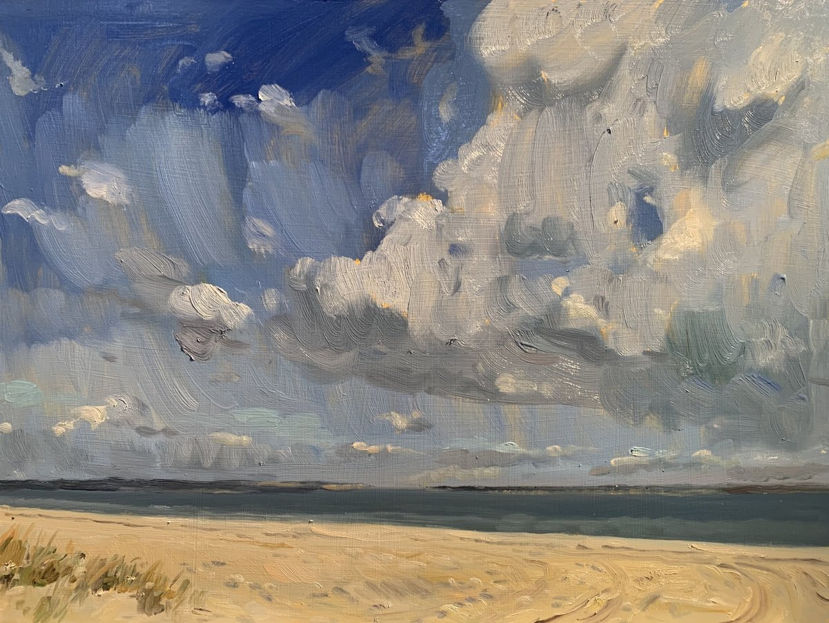 Peconic Bay Clouds South Jamesport 18 x 24 oop